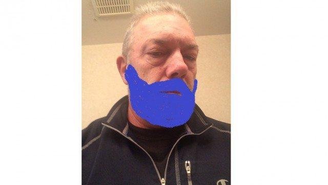 bluekens with a really blue beard